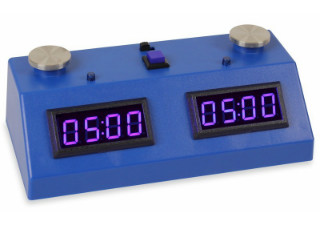 ZMF-II Chess Clock - Dark Blue with Blue LED