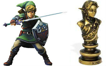 The Legend of Zelda Chess Set - King Chess Piece - Link